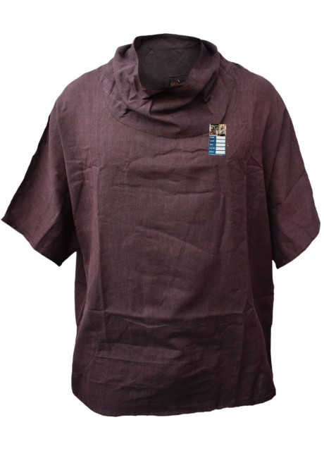 Plain Brown Cotton Poncho