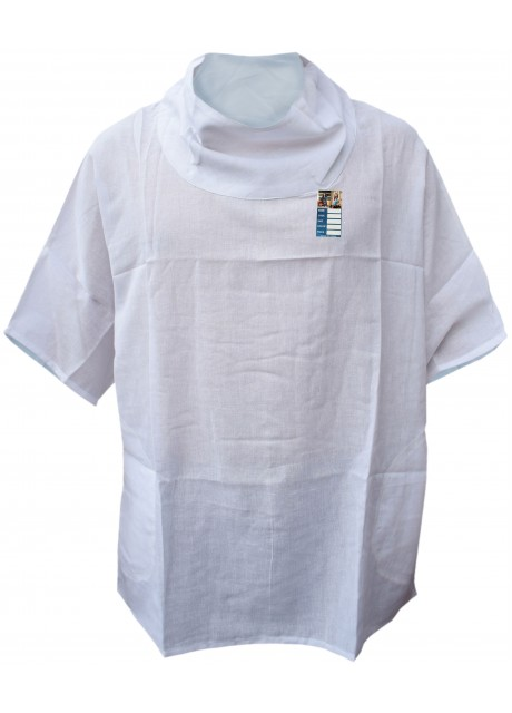 Plain White Cotton Poncho