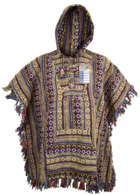 Purple Brown Poncho