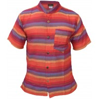 Psychedelic Grandad Short Sleeved Shirt