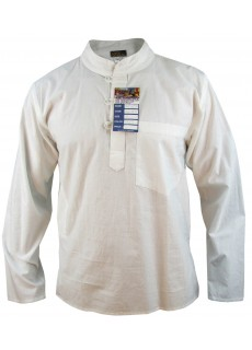 Ice White Grandad Shirt