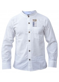 White Full Button Linen Cotton Shirt