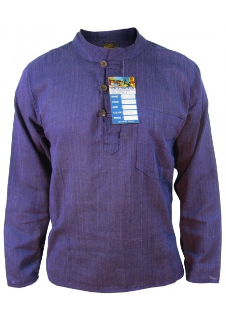 Plain Purple Grandad Shirt