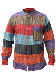 Patchwork Dharke Button Down Shirt