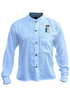 Plain White Light Cotton Grandad Shirt