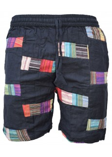 Thin Patches Shorts Colourful Black