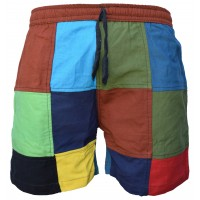 Patchwork Colourful Cotton Pull On Shorts