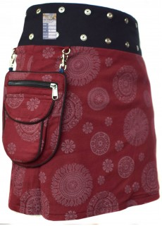 Medium Popper Skirt Maroon Drop