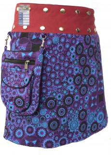 Medium Popper Skirt Purple Circle