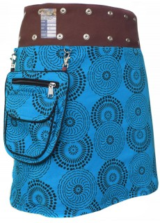 Medium Popper Skirt Blue Circle