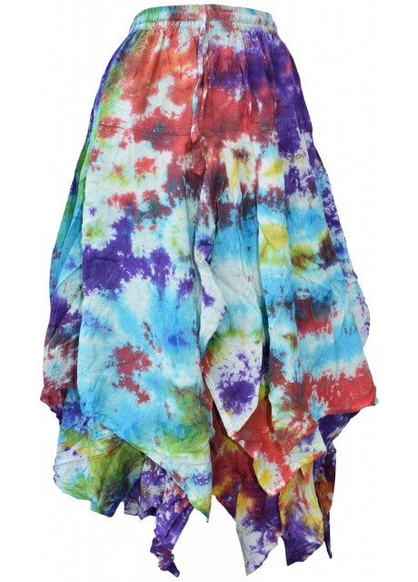 Tie Dye Double Layered  Skirt C