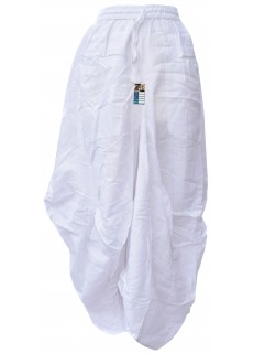 Two Pocket White Long Summer Skirt