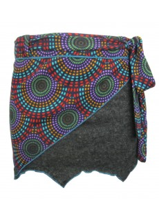 Half Psychedelic Wrap Around Skirt