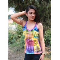 Tiedye Razorcut Tank Top