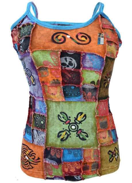 Small Patchwork Stonewashed Tank Top