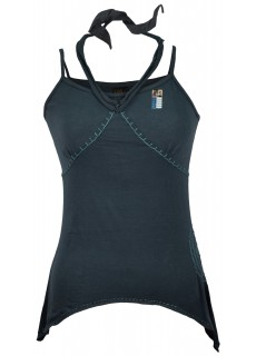Asymmetrical Stitch Tank Top Blue/Grey