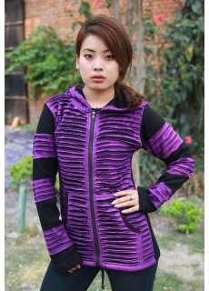 Purple Razorcut Ribs Hoody