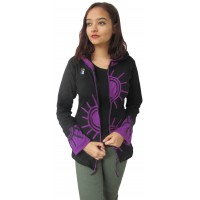 Half Sun Psychadelic Side Zip Purple Hoody