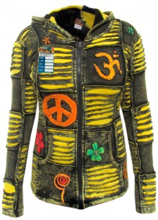 OM Yellow Boho Ribs Hoody
