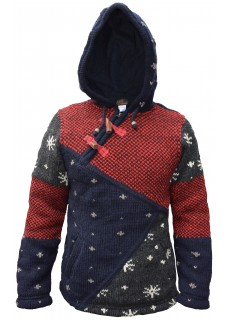 Snowflake Patchwork Cross Zip Jumper