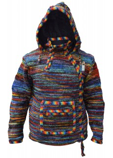 Black Rainbow Tiedye Kangaroo Jacket
