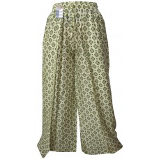 Floral Cream Wrap Around Trousers