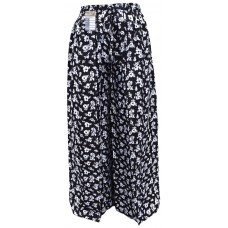 Floral Black Wrap Around Trousers