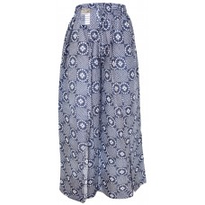 Floral Blue Dots Wrap Around Trousers