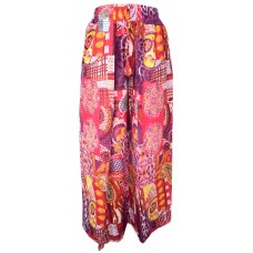 Floral Psychedelic Purple Wrap Around Trousers