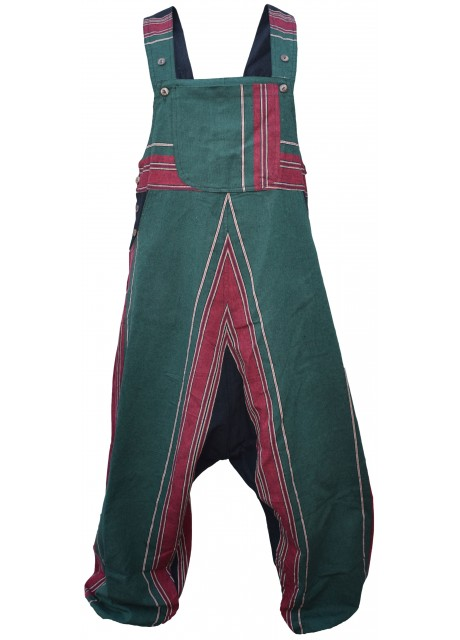 Cotton Green Heavy Dungarees Overalls