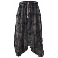 Cotton Black Patchwork Mens Harem Pants