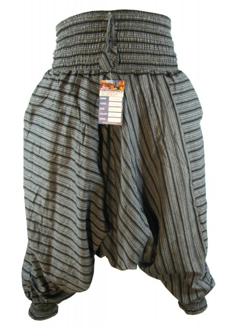 Stripey Black Harem Pants