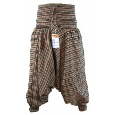 Stripey Brown Harem Pants