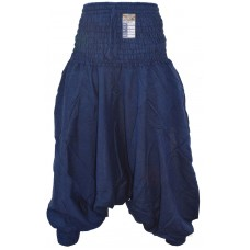 Plain Navy Blue Ladies Harem Pants
