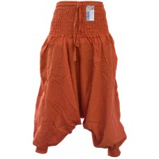 Plain Orange Ladies Harem Pants