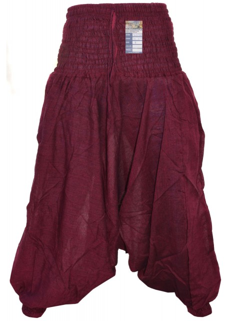 Plain Maroon Ladies Harem Pants