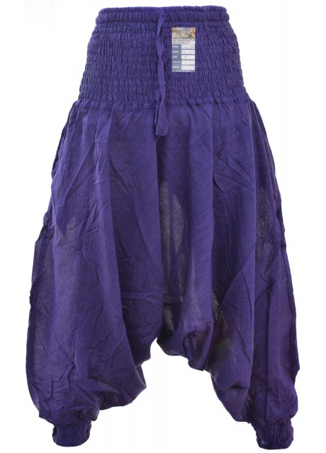 Plain Purple Ladies Harem Pants