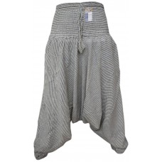 Pin Stripe Light Grey Ladies Harem Pants