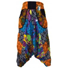 Paisley Patch Harem Pants