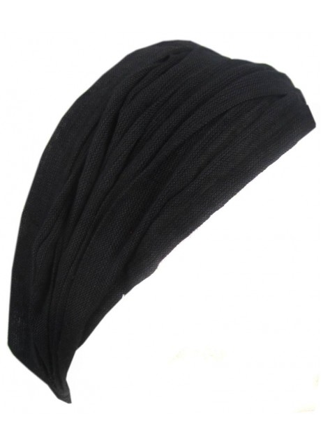 Plain Black Elastic Headband