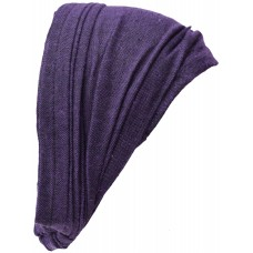 Elastic Headband Plain Purple