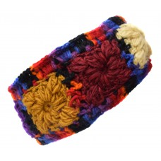 Woolen Headband Purple Tiedye