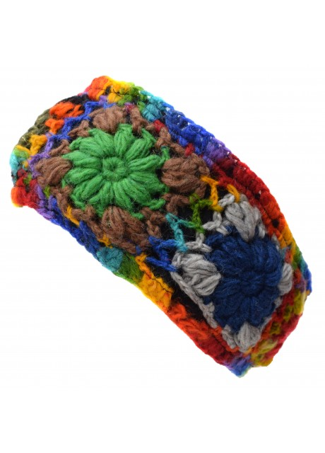 Woolen Headband Rainbow