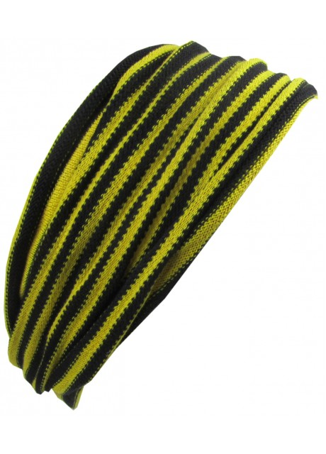 Yellow Black Stripey Double Headband