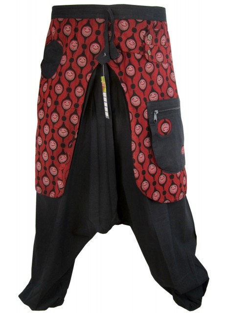 Eye Trouser Black & Red