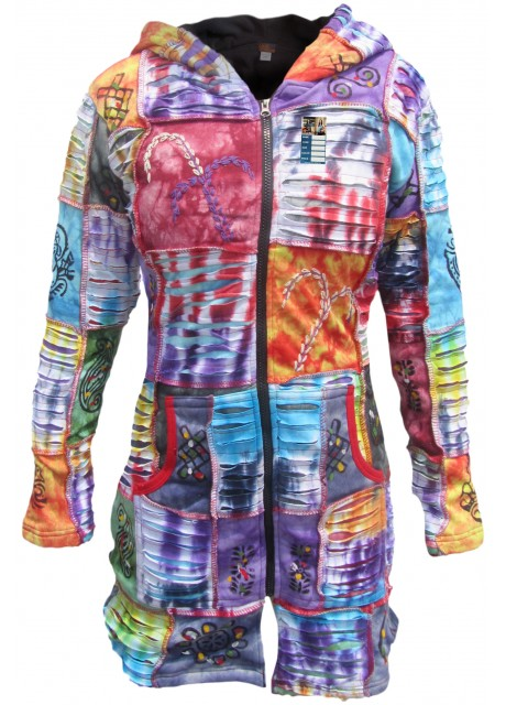 Ganesh Chapa Tie Dye Razorcut Long Coat