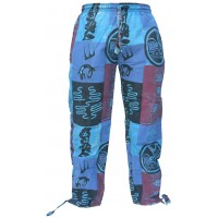 Tribal Gecko Patchwork Loose Trouser