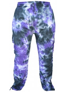 Men's Tie Dye Patchwork Hippie Cargo Pants