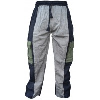 Plain Striped Black Multicolored Cargo Trouser