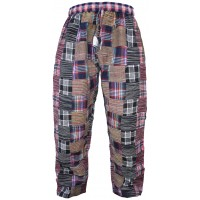 Thick Boho Patchwork Winter Trouser